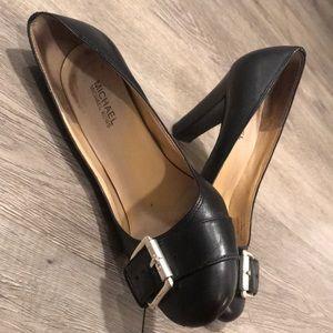 Michael Kors Black Silver Buckle Heels